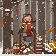 Lily reads in the Forest (Christmas 2017)