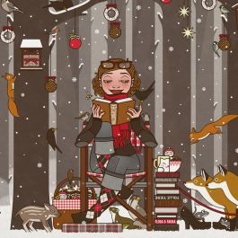 Reading in the Winter Forest (Christmas 2017)