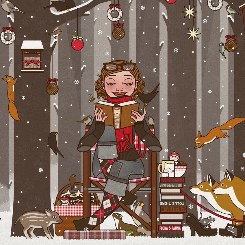vorlesen im winterwald weihnachten 2017 iris luckhaus. Black Bedroom Furniture Sets. Home Design Ideas