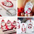 DIY Stempel und Stanzen zum Basteln von Karten und Geschenkanhängern mit Nikolaus, Weihnachtsmann und Santa von Iris Luckhaus für Charlie & Paulchen