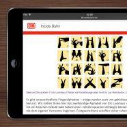 Fingeralphabet für Eltern Family in DB Mobil