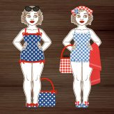 Summer for Dressup Doll »Gerti geht baden«