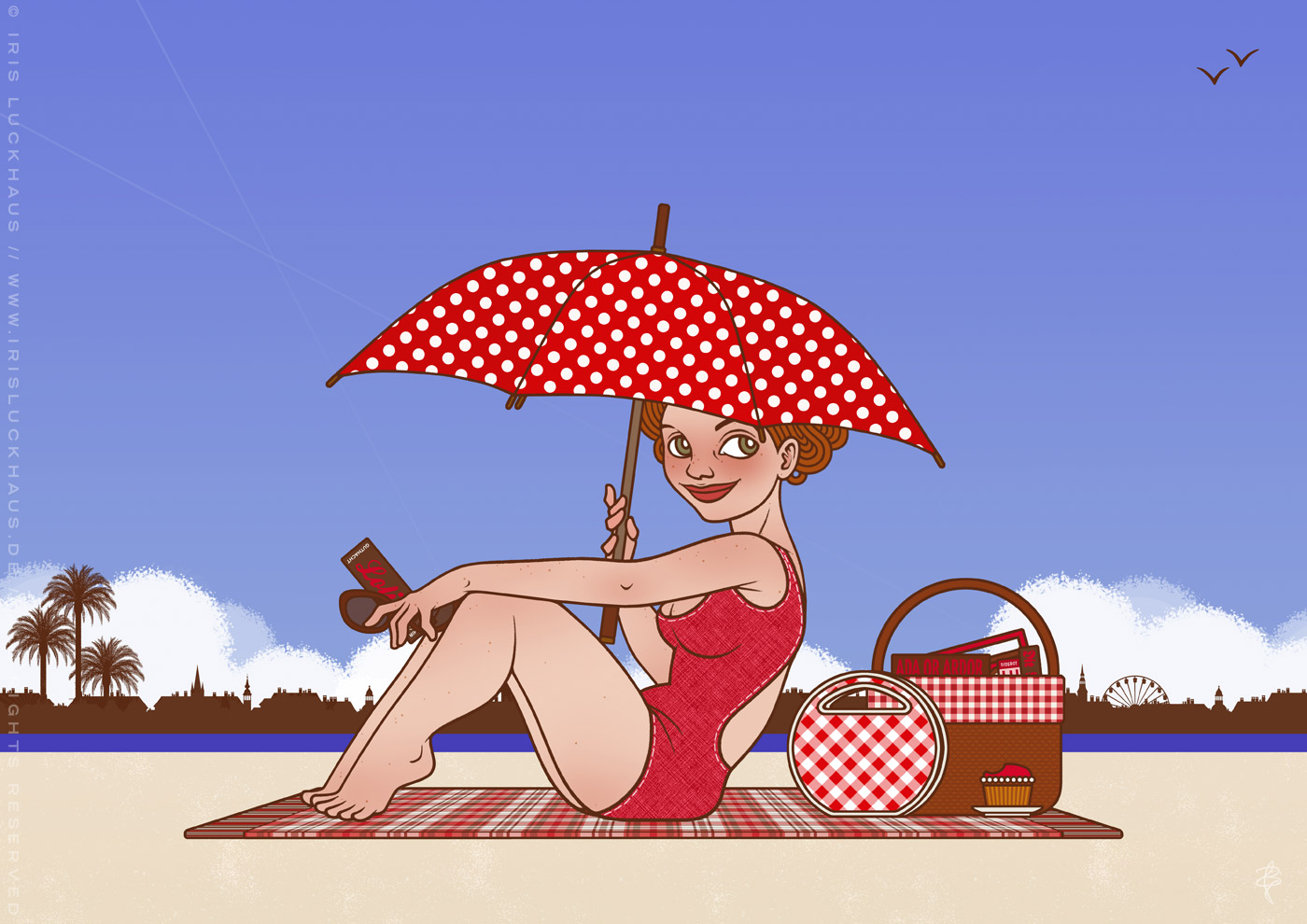 Lola am Strand, von Iris Luckhaus
