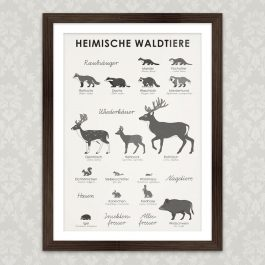 Art Print Forest Animals
