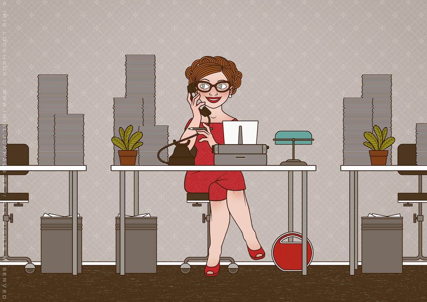 Sekretärin, Tippse oder Managerin Postkarte für TU Berlin von iris Luckhaus