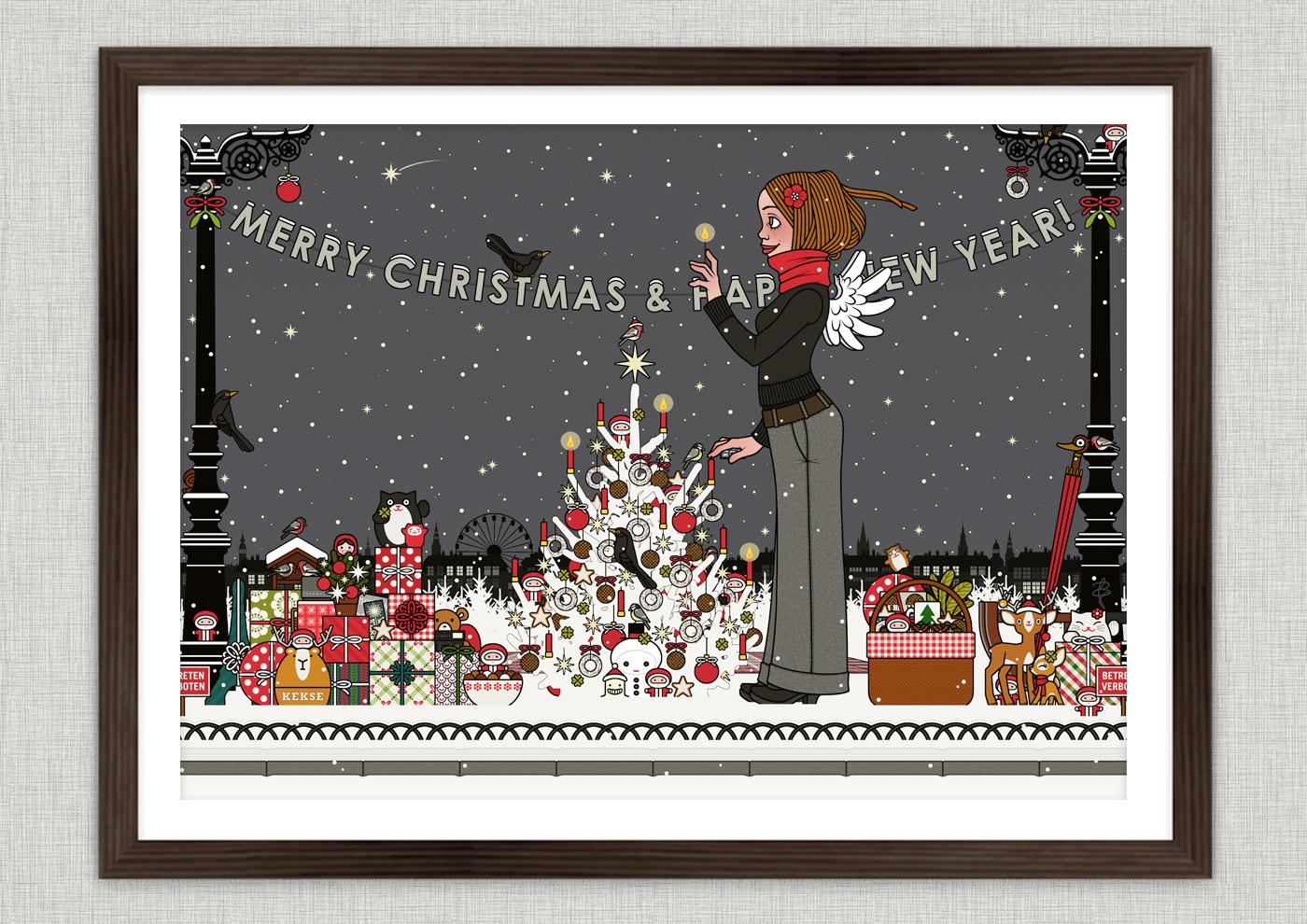 Weihnachtsposter mit Lily Lux