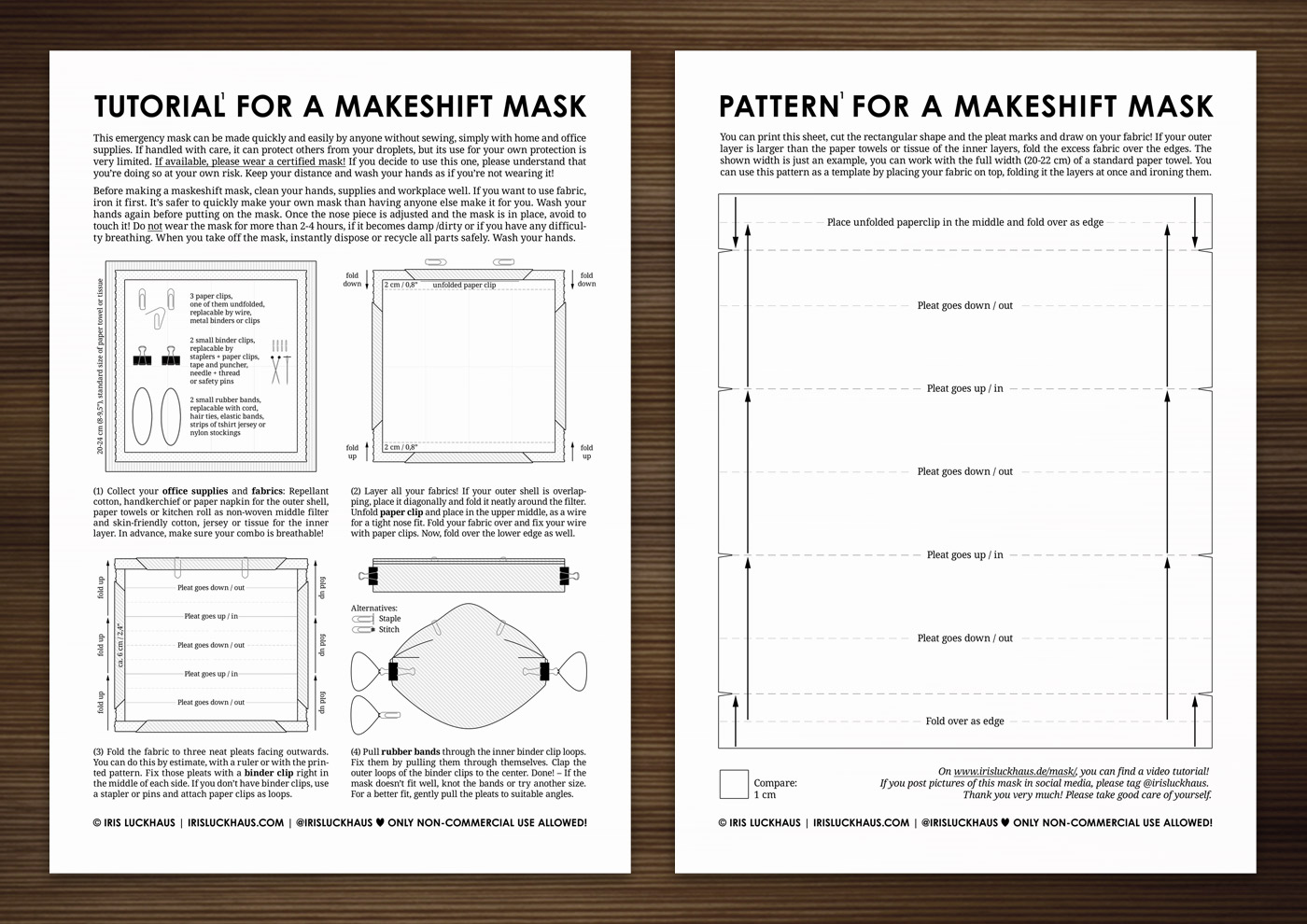 DIY Instructions for an Emergency Maskeshift Mask