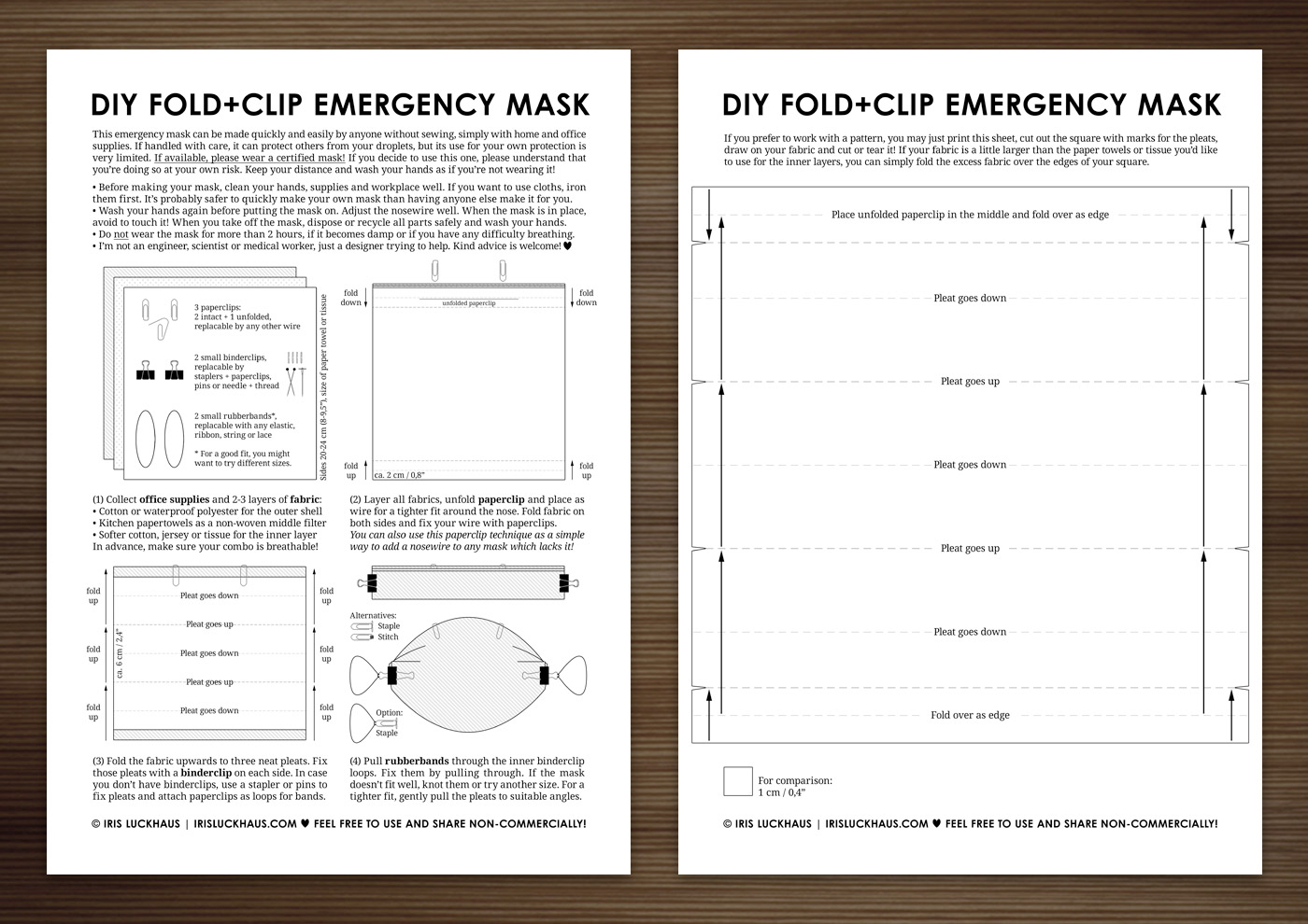 DIY Fold+Clip Emergency Mask