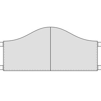 Illustration der Form-Maske oder Hongkong-Maske