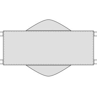 Illustration der Tuchtaschen-Maske oder Taschen-Maske