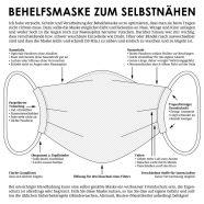 DIY Anleitung für Stoffmaske zum Selbernähen