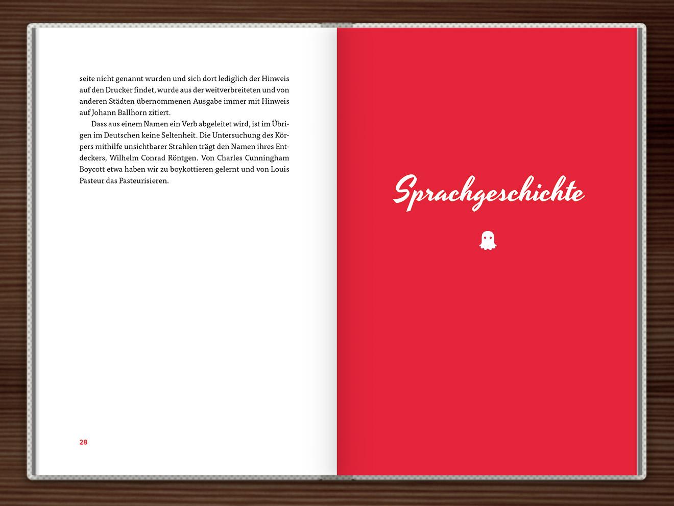 Sprachgeschichte im Buch Du hast das Wort, Schätzchen! 100 charmante Geschichten rund um die Sprache im Duden Verlag von Rita Mielke mit Illustrationen im Sixties-Stil von Iris Luckhaus
