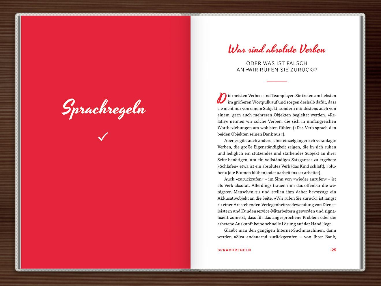 Sprachregeln im Buch Du hast das Wort, Schätzchen! 100 charmante Geschichten rund um die Sprache im Duden Verlag von Rita Mielke mit Illustrationen im Sixties-Stil von Iris Luckhaus