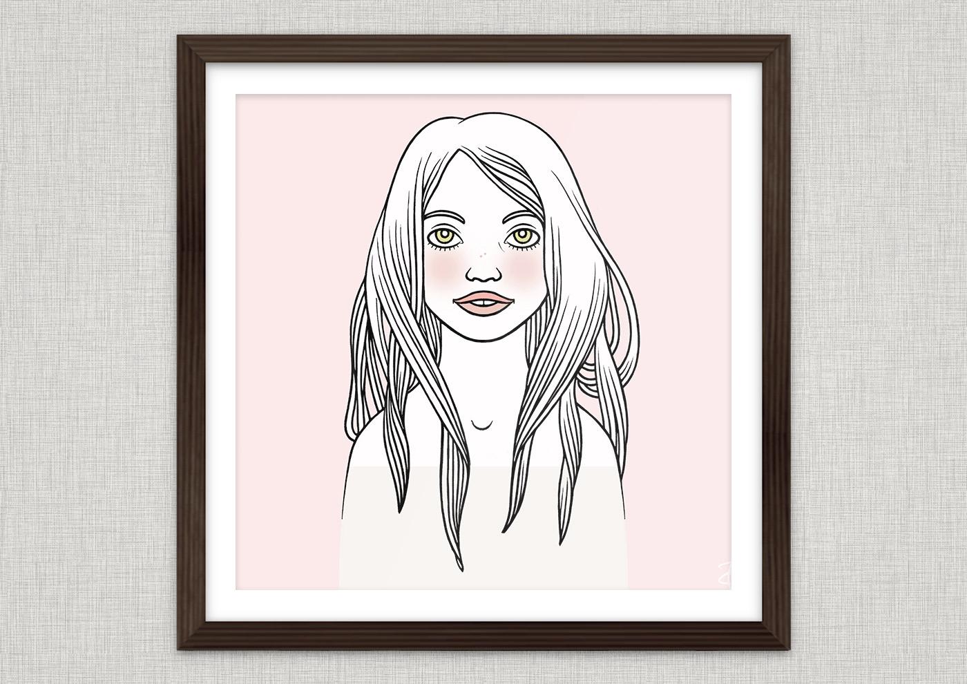 Rosenrot Agape Mädchenportrait