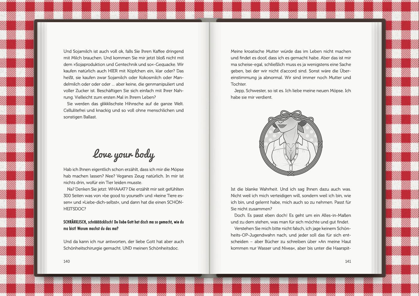 Mimi Fiedlers neue Brüste, für das Buch Brauchsu keine Doktor, brauchsu nur diese Buch – Die Balkantherapie für Liebe, Leib und Leben von Mimi Fiedler im MVG Verlag
