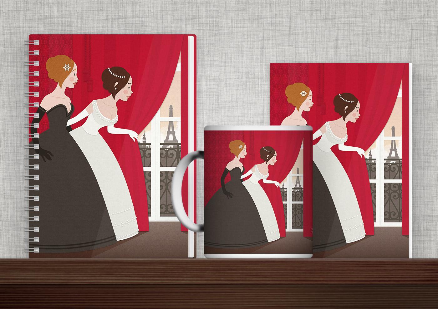 Bedruckte Produkte wie Tasse, Buch, Karte oder Tasche mit Illustrationen von Iris Luckhaus