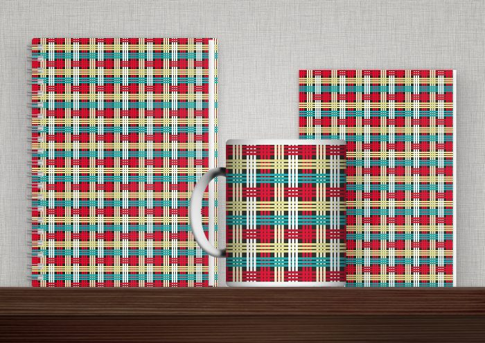 Bedruckte Produkte wie Tasse, Buch, Karte oder Tasche mit Mustern von Iris Luckhaus