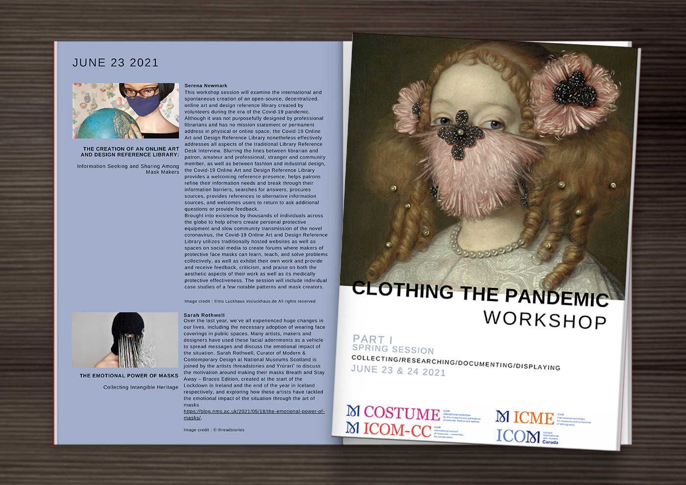 Clothing the Pandemic Workshop by ICOM International Committee for Museums and Collections of Costume, Fashion and Textile
