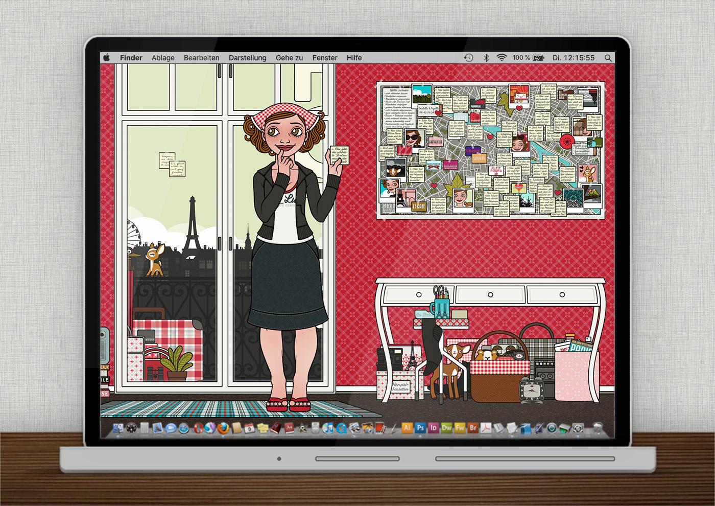 Lily Lux Wallpaper mit Sehenswürdigkeiten und Stadtplan im Hotel
