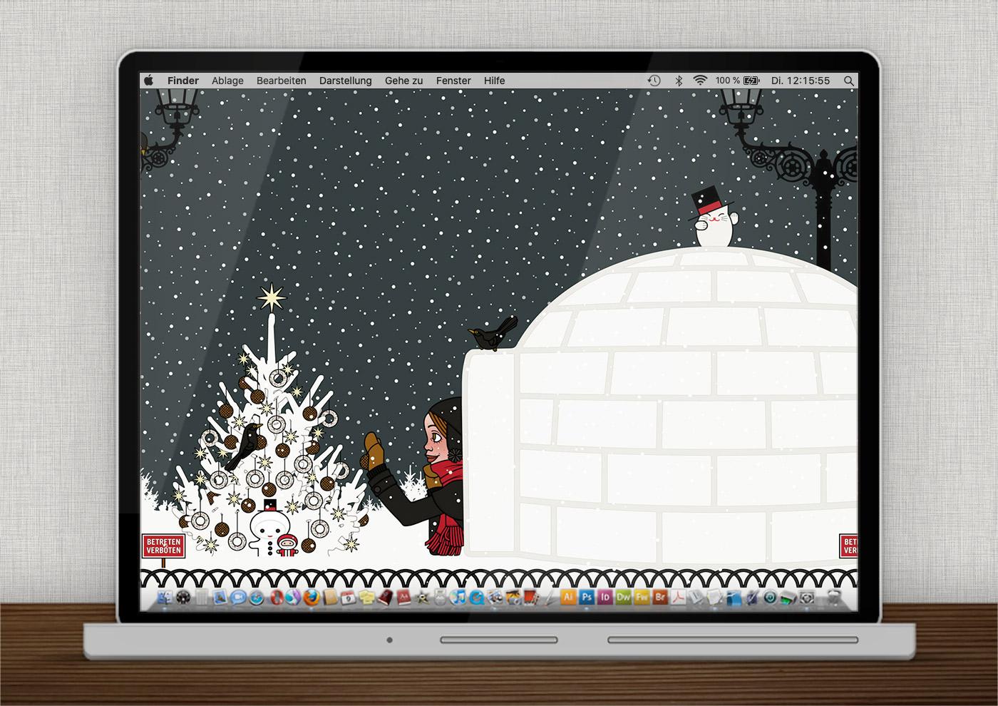 Lily Lux Wallpaper mit Iglu für den Winter