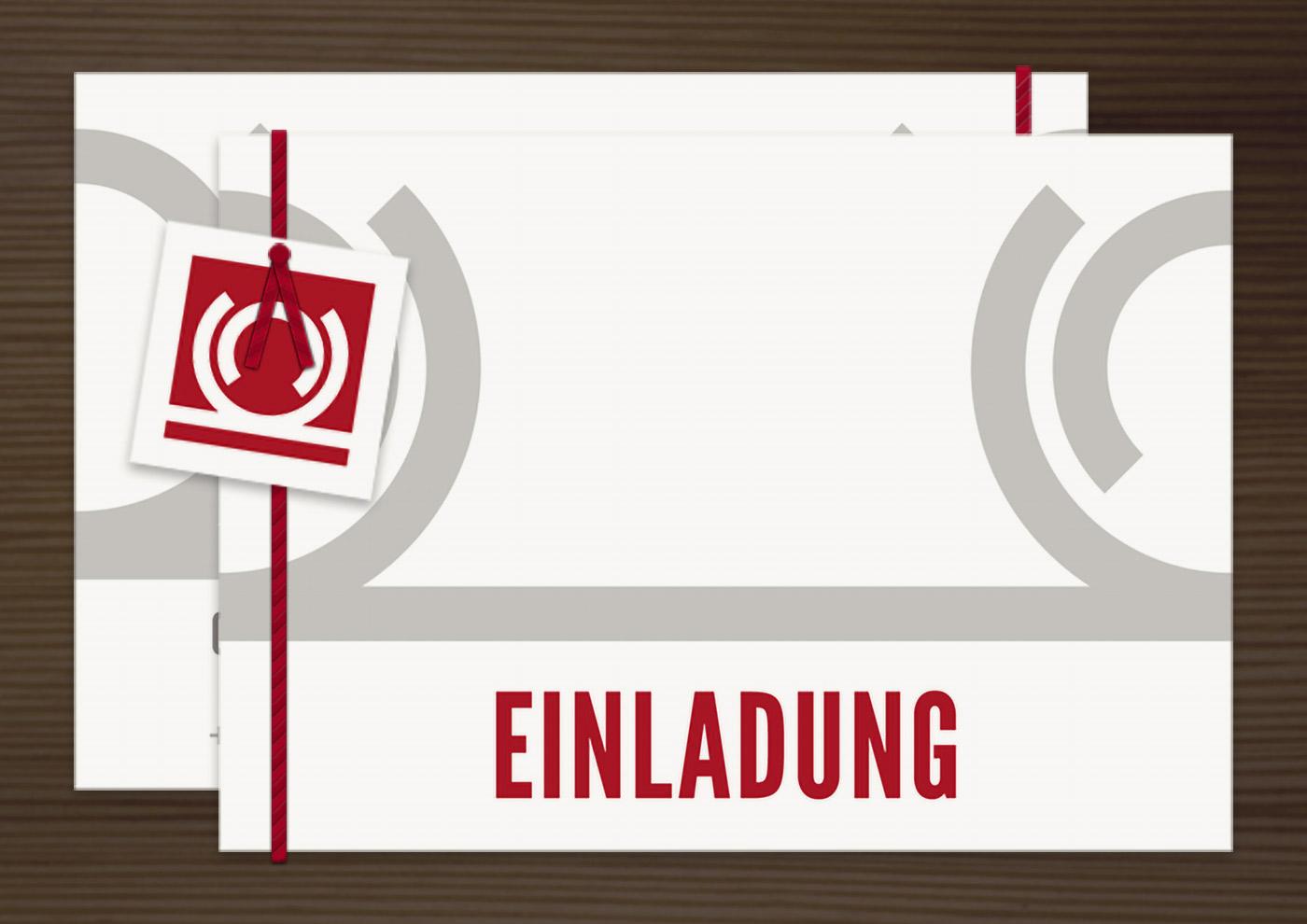 Einladungskarte und Anhänger, Grafik Design von Logo und Corporate Identity für Hochzeit und gemeinsames Leben des Paares