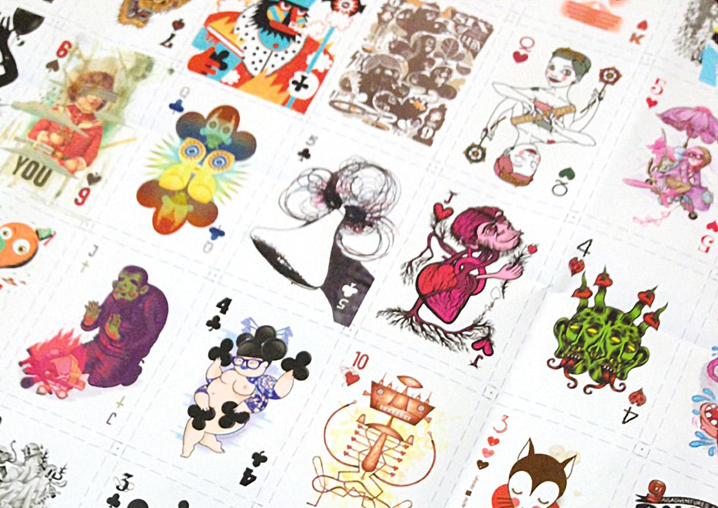 Bilder vom Druck der Herzdame (Queen of Hearts) Spielkarte für das 52 Aces Reloaded Pokerdeck für Zeixs