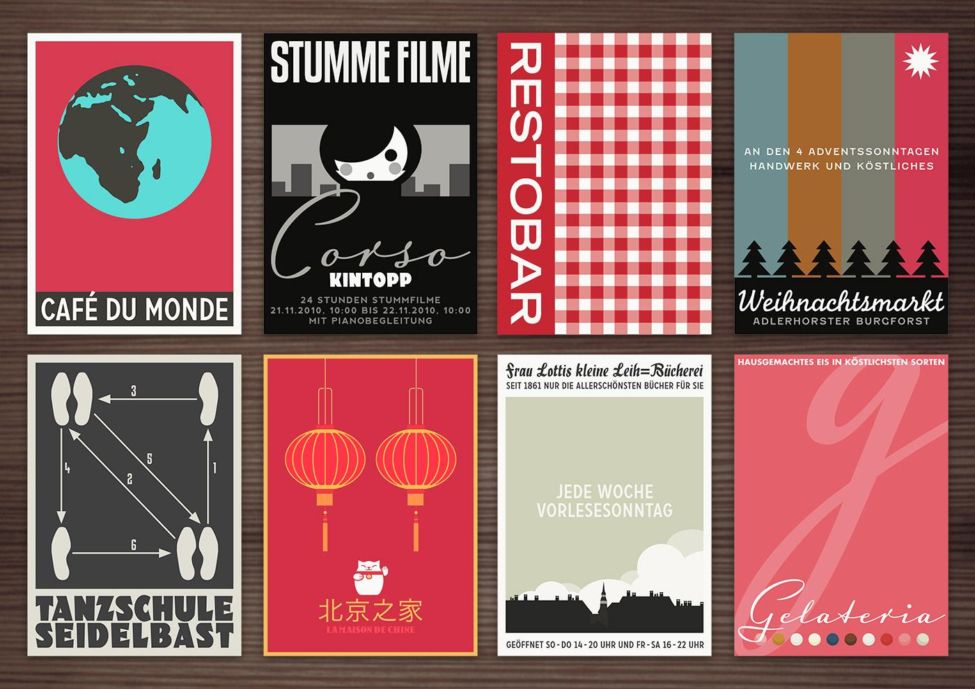 Corporate Identity, Logo und Grafik Design für die liebsten Orte von Lily Lux