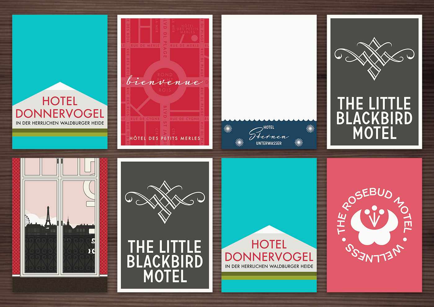Corporate Identity, Logo und Grafik Design für die Lieblingshotels von Lily Lux