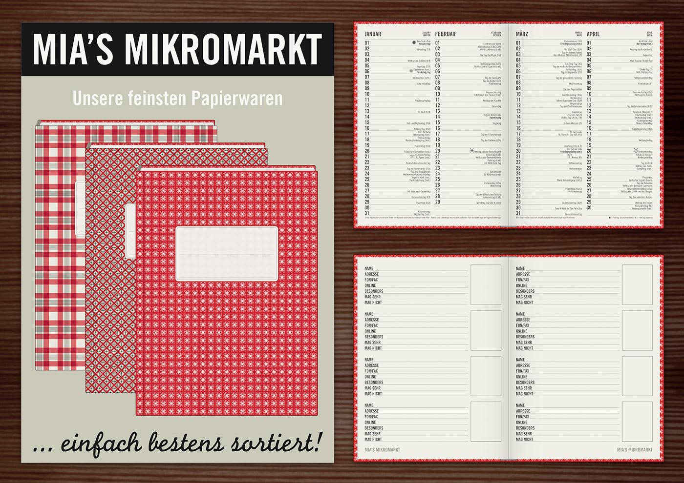 Papeterie mit Notizbüchern und Papierwaren von Lily Lux Mia's Mikromarkt
