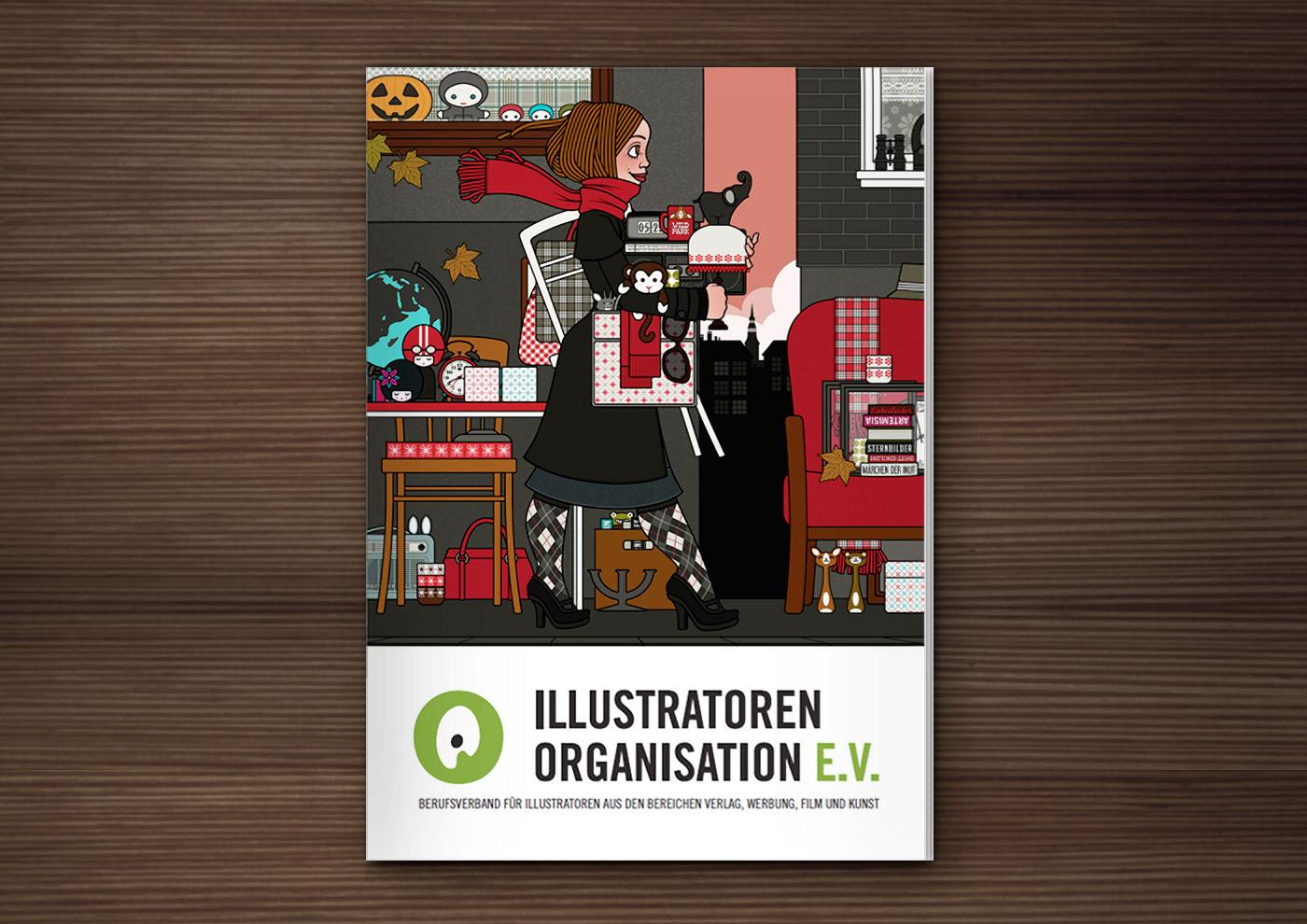 Lily Lux auf dem Umschlag der IO Broschüre
