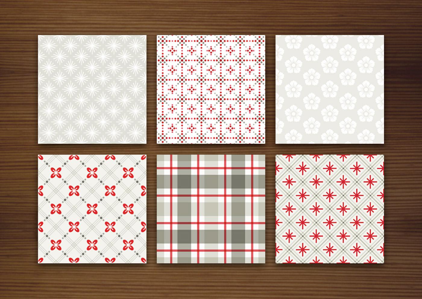 Grafik Design für helle Muster für Stoffe, Tapeten und Papier mit Karos, Sternchen, Beeren und Blumen für Produkte und Aufdrucke