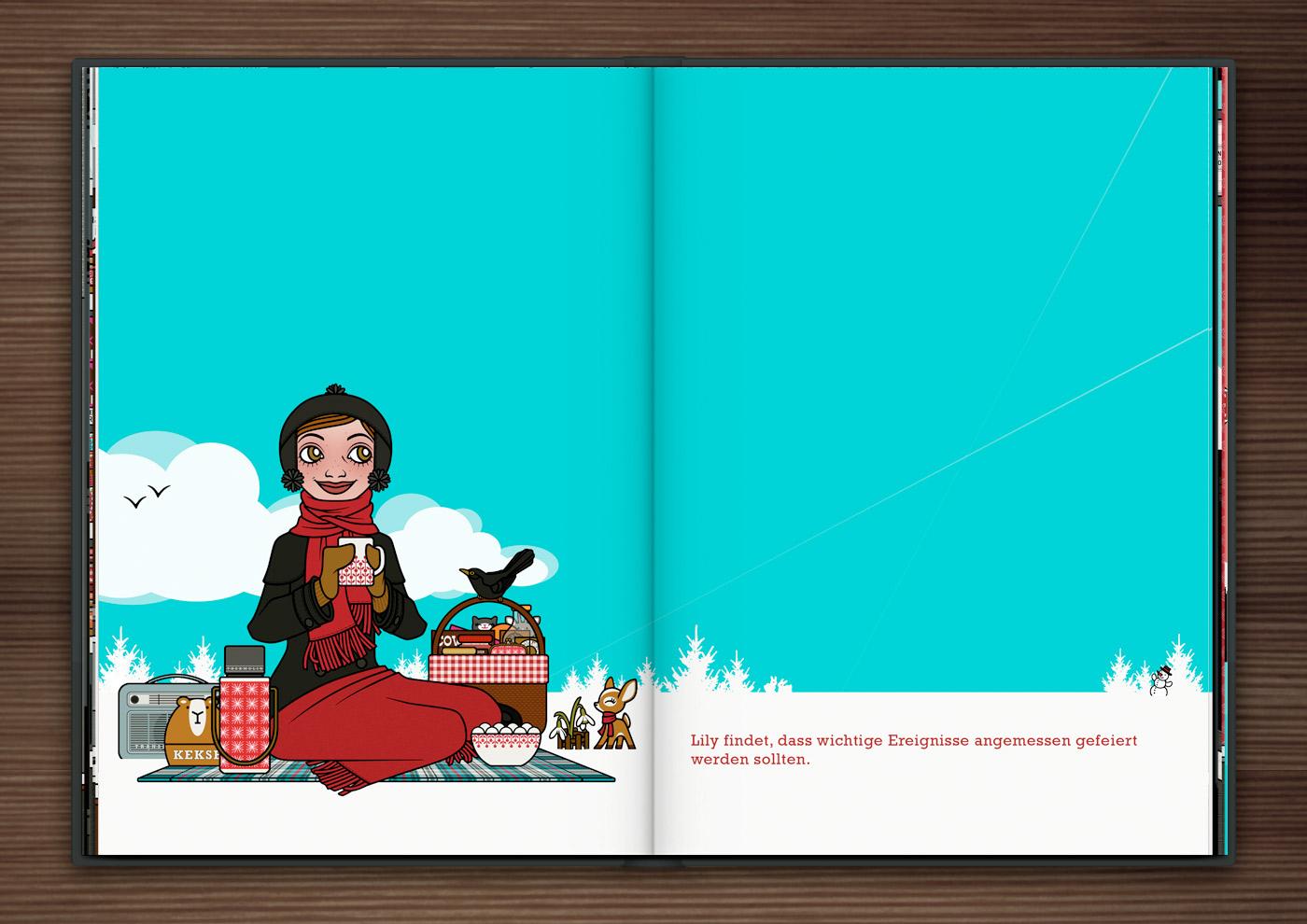 Schneepicknick im Buch Die wunderbare Welt der Lily Lux