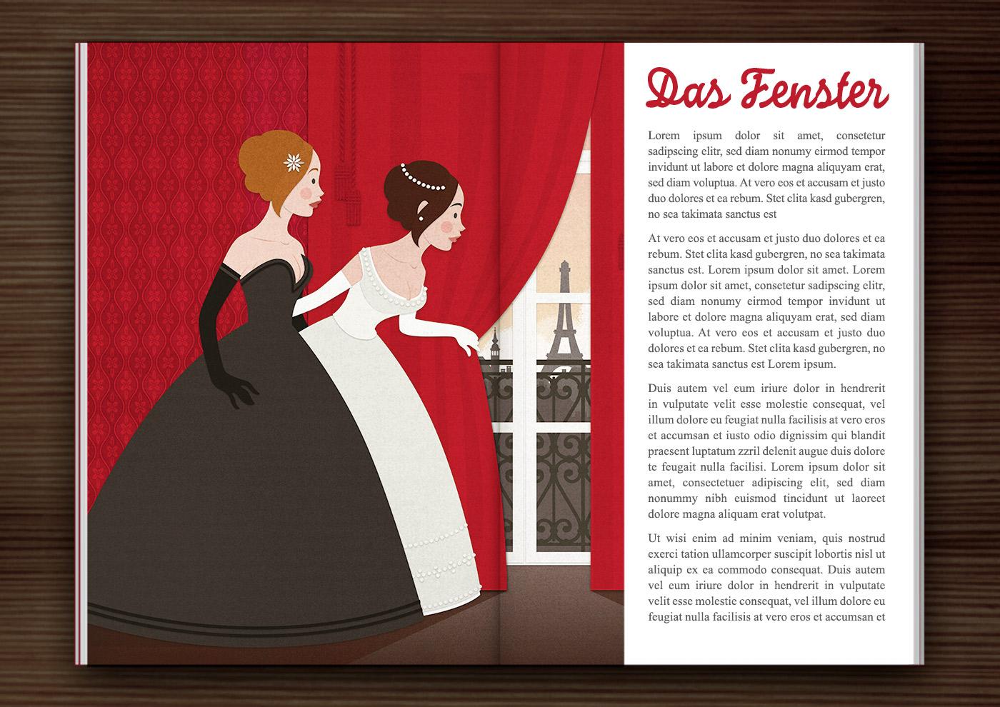 Märchenmädchen im Buch